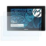 Bruni Schutzfolie kompatibel mit Medion LIFETAB P8912 MD99066 Folie, glasklare Bildschirmschutzfolie (2X)