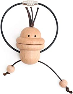 Bingoing Couple Keychain Creative Birthday Gift Cute Cartoon Wooden Car Decoration Key Ring Big Mouth Monkey Keychain