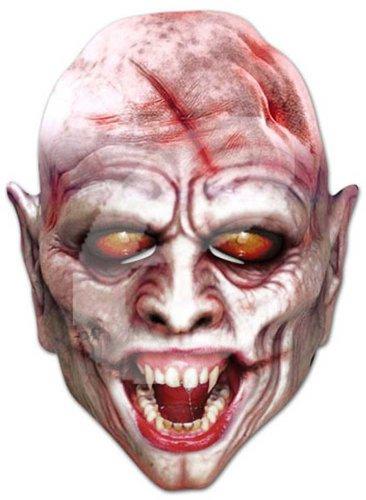 Vampire Horror Prominentenmaske, Papp Maske, aus hochwertigem Glanzkarton mit Augenlöchern, Gummiband - Grösse ca. 30x21 cm