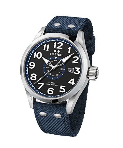 TW Steel Volante Reloj de pulsera XL VS3248mm textil Band azul UVP 199eur