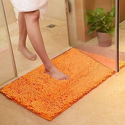 MYSdd [Múltiples tamaños] GASON Alfombrilla de baño Alfombra con Memoria Alfombras para Inodoro Bañera Divertida Habitación Sala de Estar Puerta Escaleras Alfombrillas de baño - Naranja, 80x160cm