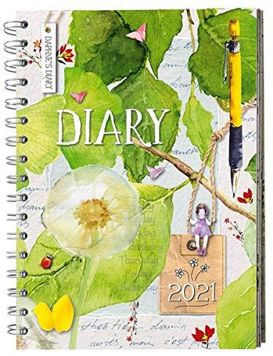 Daphne's Diary – Taschenkalender 2021: Mit Kalendarium, Platz für Notizen, Einkaufs- oder To-do-Liste sowie Rezepten, Rätseln, Ausmal-Motiven, Postkarten und Stickern