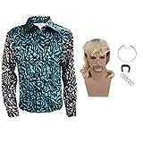 Mens Button Down Shirt Joe Exotic Costume...