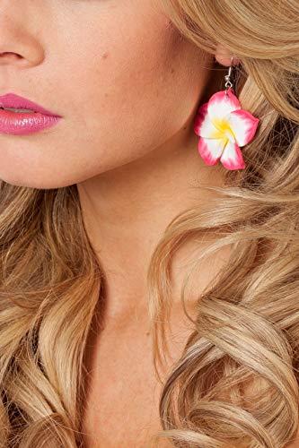 Generique - Zauberhafte Ohrringe mit Blüte Pink-Weiss-Gelb