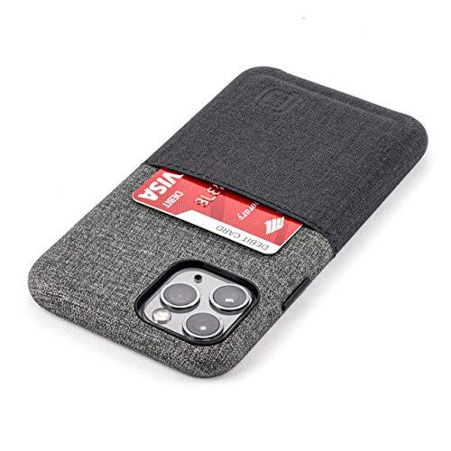 Dockem Luxe M1 Cover Portafoglio per iPhone 11 Pro (5.8): Sottile Custodia Porta Carte di Credito con Piastra Metallica Integrata per Supporto Magnetico: Serie-M [Nero e Griggio]