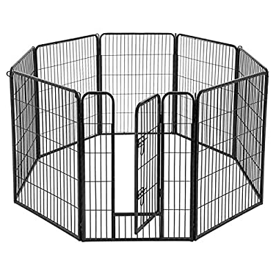 FEANDREA Pet Playpen, Indoor Outdoor Puppy Exercise Dog Fence, 40 inches