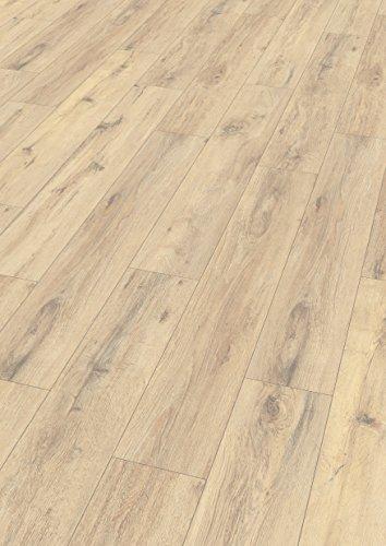 EGGER Home Laminat hell braun Holzoptik - Parkett Eiche EHL039 (8mm, 1,994m²) Klick Laminatboden | Bodenbelag