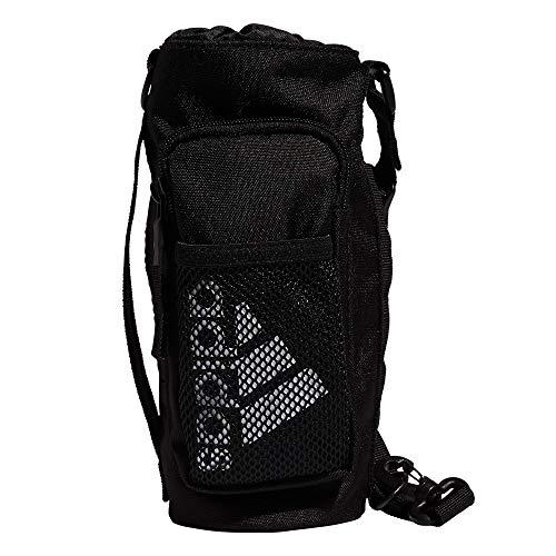 adidas Hydration Crossbody - Bolsa para botella de agua, color negro y blanco, talla única