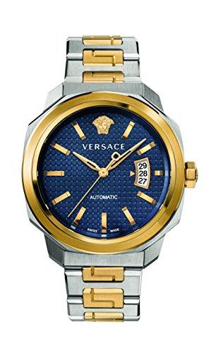 Versace Herren analog Automatik Uhr mit Edelstahl Armband VAG030016