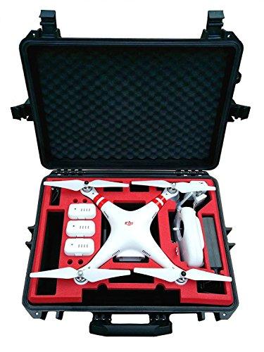 Koffer/Transportkoffer von MC Cases passend für DJI Phantom 2 Vision und Vision Plus vorgefertigt - Ready to use - Platz für 6 Akkus …