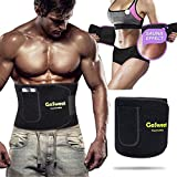 GoSweat Waist Sweat Trainer with Pocket, Plus Size Trimmer Belt for Women & Men, Slimming Band, Belly Wrap for Weight Loss, Stomach Fat Burner, Workout Black