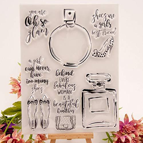 Tacones de perfume sello transparente / sello para álbum de recortes de bricolaje / álbum de fotos hojas de sellos transparentes decorativas A1981