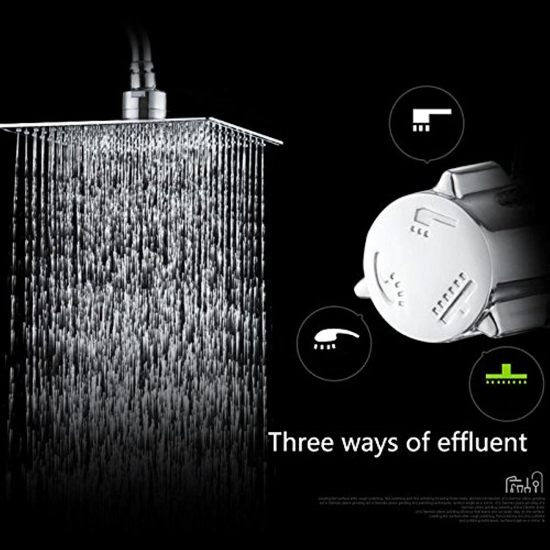 New Luxury Modern Chrome Fertig Regenbrause Set Wasserhahn Messing Material Chrom Mischbatterie Wandmontage