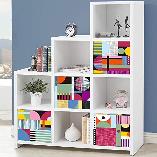 Alwayspon Calcomanías para muebles de 33 cm x 33 cm x 4 piezas para Ikea KE Expedit Kallax estantería estantería almacenamiento hogar muebles decoración DIY pelar y pegar pegatina