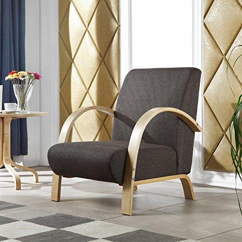 i-flair® - Polstersessel - Lounge Sessel - Dunkelgrau