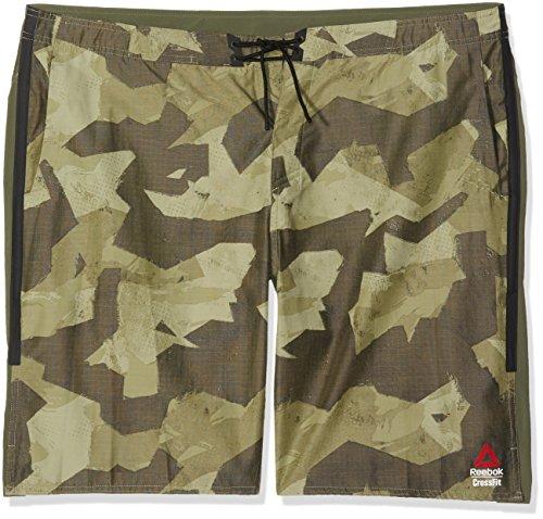Reebok RCF Super Nasty Tactical Pantalón Corto, Hombre, Verde...
