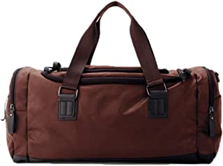 Duffel Bag, Leather Shoulder Bag, Handbag, (Size: 49 * 22 * 25), Classic Multi-Color Option, Waterproof and Wearable Large Capacity, Travel Storage Essential (Color : Brown)