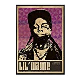 ADNHWAN Lil 'Wayne Musik Sänger Poster Hip Hop Rap Musik