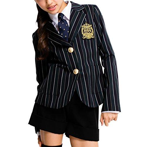 [アリサナ]arisana 卒業式 小学生 女の子 スーツ 子供服 フォーマル ブリトニー (ジャケット + ショートパンツ + ワッペン の 3点 セット) 160cm