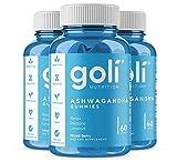 ASHWA Vitamin Gummy by Goli Nutrition - Ashwagandha and Vitamin D Gummies - Relax. Restore. Unwind. (Mixed Berry, KSM-66, Vegan, Plant Based, Non-GMO, Gluten-Free & Gelatin Free - 3 Pack 180 Count)