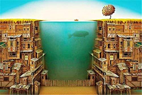 BLZQA Puzzle 1000 Teile Erwachsenenpuzzle 75x50cm Riesiges Aquarium Kind Aus Holz Puzzle Panorama Art DIY Leisure Game Fun Geschenk Spielzeug Geeignete Freunde Familie