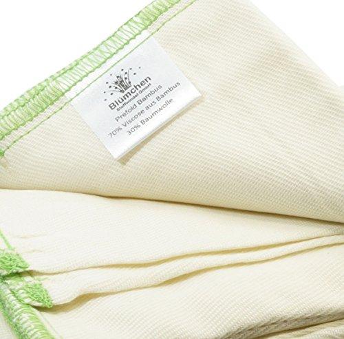 Blümchen Faltwindeln 6 Stück Prefold Bambus Twill Falteinlagen Stoffwindel (S)