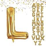 VCOSTORE Globo gigante de helio de 40 pulgadas de la A a la Z del alfabeto, cumpleaños, bodas, fiestas y globos