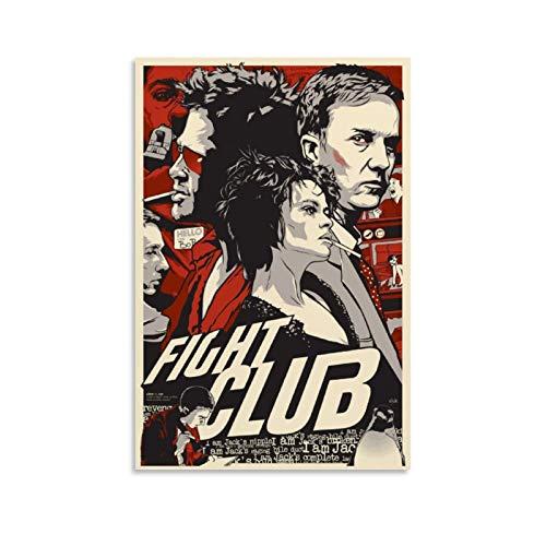 GHJH Fight Club 1 Peinture à l'huile sur toile vintage classique Movie TV Poster et impressions Décoration murale 30 x 45 cm