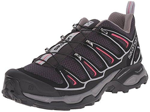 Salomon  X Ultra 2,  Damen Knöchelfreie Wanderschuhe , Grau - Grey (Asphalt/Black/Hot Pink) - Größe: 36 2/3 EU