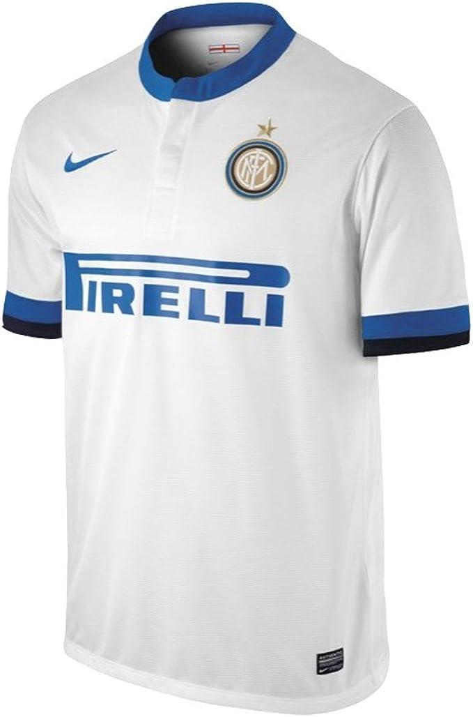 Nike Seconda Maglia Inter Bianca 2013/2014 Adulto XL : Amazon.it ...