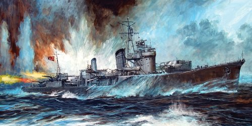 Morning tide type destroyer hail new equipment + Etched Parts 1/700 Japanese Navy (SPW15) (japan import)