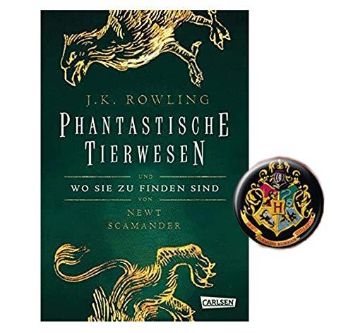 Harry Potter Hogwarts-Schulbuch: Phantastische Tierwesen und wo sie zu Finden sind (Hardcover) + 1 Button