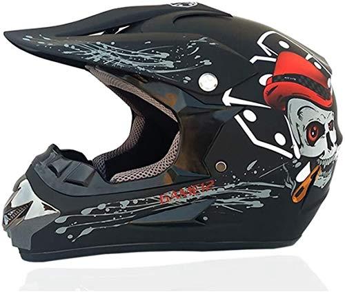 Rmotorcycle Casco clásico de la bicicleta MTB compite con el casco del motocrós de la bici de descenso anteojos del casco del casco de la juventud del motocrós (Color : CC12)