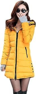 XFentech Women Winter Coat - Ladies Parka Outwear Warm Slim Hooded Down Padded Long Overcoat