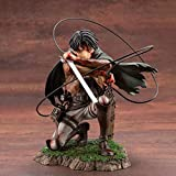 Anime Attack On Titan Artfx J Levi Renewal Package Ver. PVC Action Figure Tokoh Anime Model Koleksi Mainan Boneka Natal