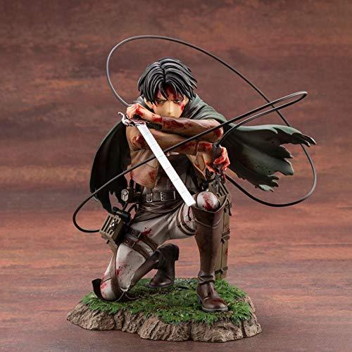 Anime Attack On Titan Artfx J Levi Paquete De Renovación Ver.Figura De Acción De PVC Figura De Anime Juguetes De Modelos Coleccionables Muñeca Navidad