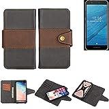 K-S-Trade® Handy-Hülle Schutz-Hülle Bookstyle Wallet-Case Für Fairphone Fairphone 3 Bumper R&umschutz Schwarz-braun 1x