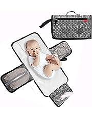 hughug おむつポーチ オムツ替えシート 防水 ベビー用品 持ち運び 携帯 折りたたみ 出産祝い