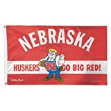 Wincraft Nebraska Cornhuskers Flag 3  x 5  Deluxe Flag - Go Big Red Flag