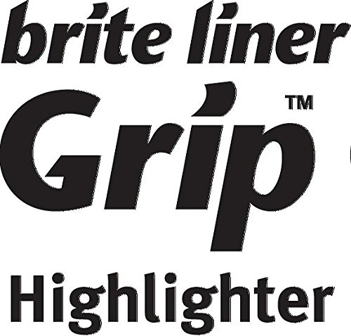 BIC Brite Liner Highlighter with Rubber Grip, Chisel Tip, Assorted, Pack of 4 - BLMGP41-A-AST Photo #6