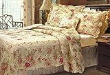 Chic Shabby Romantic Rose Bedding Quilt Set Queen