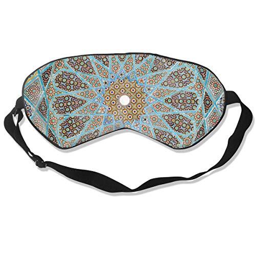100% Polyester Schlafmittel Kaleicope Print Soft Best Sleeping Eyeshade Augenbinde mit Gurt für Travel Work Naps Blocks Light