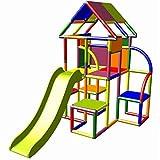 move and stic Lina großer Spielturm / Spielhaus Kletterturm mit Rutsche für Kleinkinder (7 Farben...