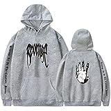 AWKingbf Unisex Xxxtentacion Sudadera Street Fashion Plus Velvet Hoodhood Revenge Kill HoodHood Rap Hip Hop Hop Mensshirt Sweat S-4XL