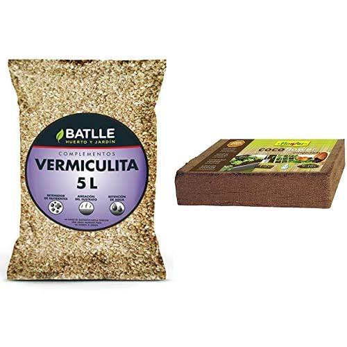 Sustrato Vermiculita 5L - Batlle + Flower 80070 80070-Coco, 9 L, No Aplica, 10.5X21X5.5 Cm