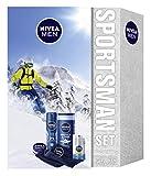 NIVEA MEN Sportsman Geschenkset, Pflegeset für Männer mit Creme, Deodorant, Pflegedusche,...