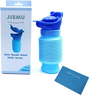 Rongbo Shrinkable Urinal,750ML Male Female Portable Mobile Toilet Potty Pee Urine Bottle,Reusable Emergency Urinal for Camping Car Travel Traffic Jam and Queuing