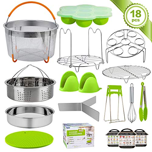 TeamFar Instant Pot Accessories, 18 Pieces Pressure Cooker Accessories for 6 / 8qt Electric Pot Air Fryer, Healthy & Safe, Versatile & Functional, Easy Clean & Dishwasher Safe