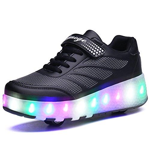 Led Luces Zapatos con Ruedas Dobles para Pequeños Niños y...