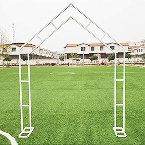 Outdoor Wedding Party Home Garden Wall Decoration, 200cmx250cm, Decorative Metal Garden Arch (White, Golden)